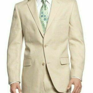 Michael Kors Suit Jacket 46L Tan Kimbe